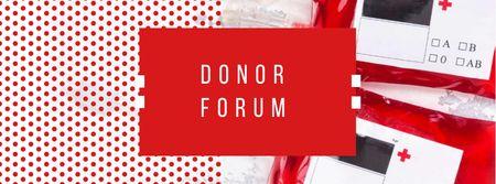 Plantilla de diseño de Charity Event Announcement with Donated Blood Facebook cover