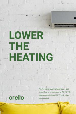 Climate Care Concept with Air Conditioner Working Tumblr tervezősablon