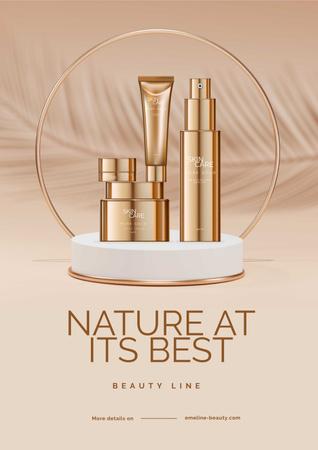 Set of Skin Beauty Line Poster tervezősablon