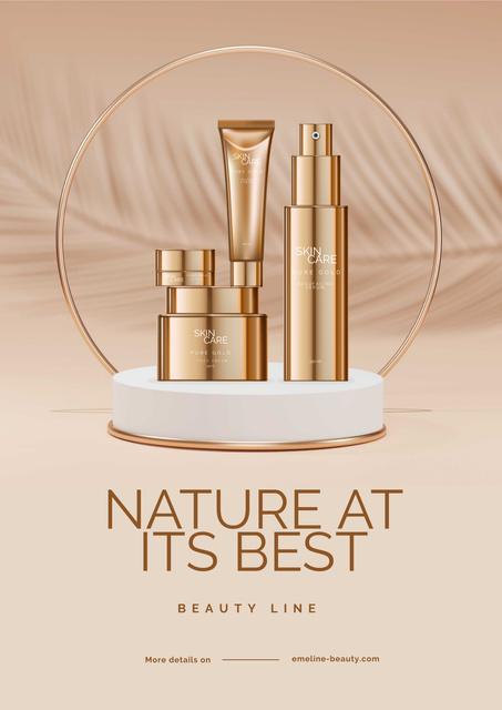 Set of Skin Beauty Line Poster Design Template