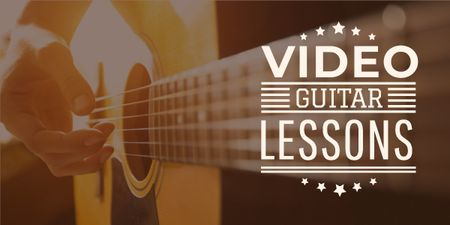 Video guitar lessons poster Image Modelo de Design