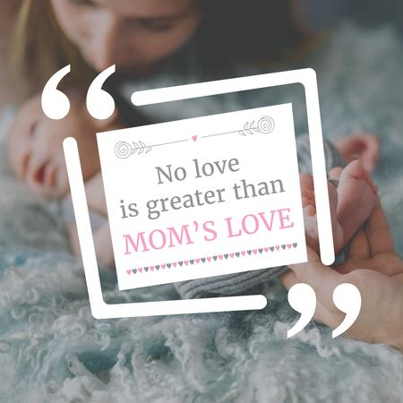 Template di design Mother with Child on Mother's Day Instagram