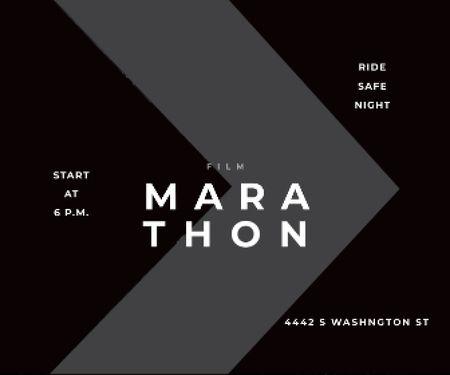 Plantilla de diseño de Film Marathon poster Large Rectangle
