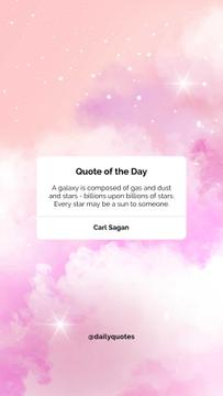 Quote of the day on pink Sky