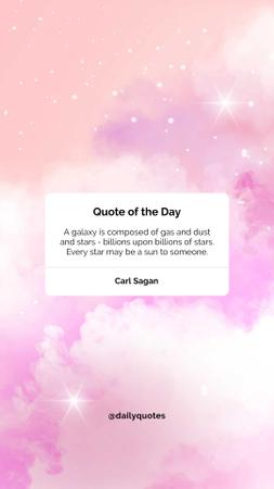 Ontwerpsjabloon van Instagram Story van Quote of the day on pink Sky