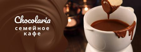 Hot chocolate Fondue dish Facebook cover – шаблон для дизайна