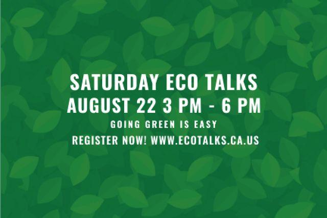 Szablon projektu Eco talks Invitation Gift Certificate