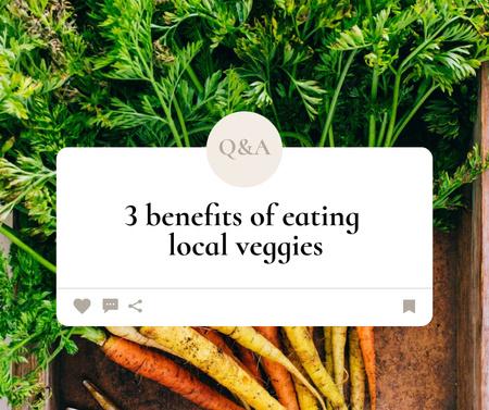 Designvorlage Local Veggies Ad with Fresh Carrot für Facebook