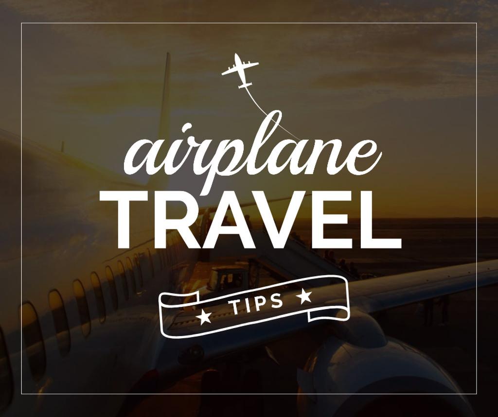 Flying Tips Hand with Plane in sky — ein Design erstellen