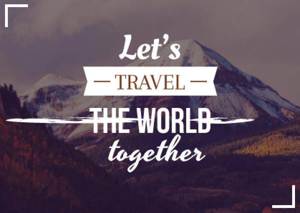 Motivational travel quote poster — ein Design erstellen
