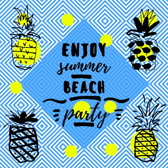 Summer Beach Party Invitation Instagram Design Template