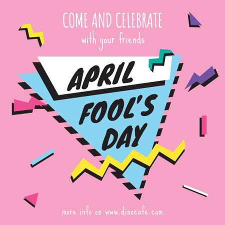 April Fool's day invitation Instagram ADデザインテンプレート