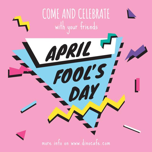 April Fool's day invitation Instagram AD Design Template