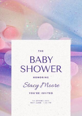 Template di design Baby Shower Event Announcement Invitation
