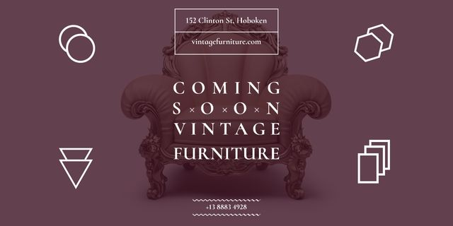 Antique Furniture Ad Luxury Armchair Image Design Template