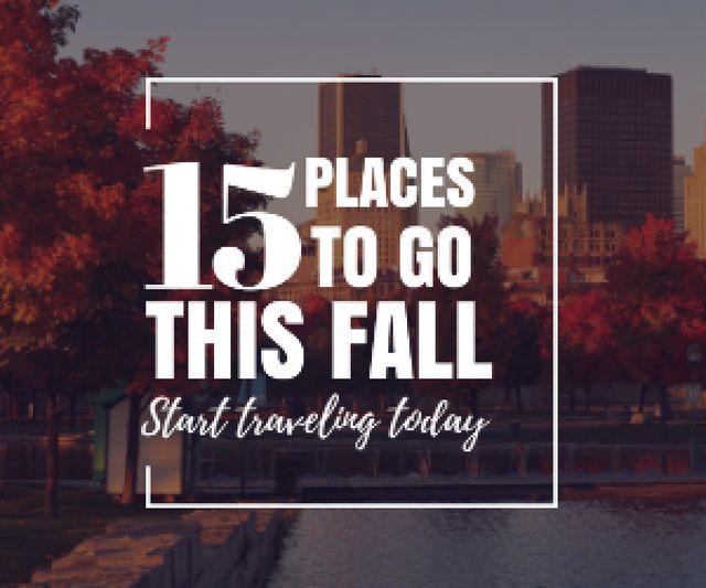 Autumn Season in City Inspiration Medium Rectangle Modelo de Design