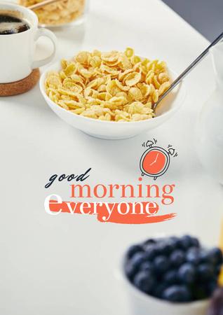 Breakfast with Fresh Cereals Poster – шаблон для дизайна