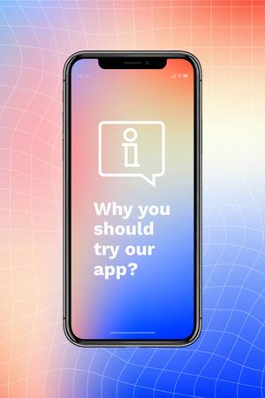 Designvorlage Startup Idea with App on Phone Screen für Pinterest