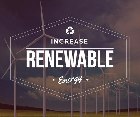 Template di design Renewable Energy Wind Turbines Farm Facebook