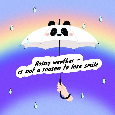 Plantilla de diseño de Inspirational Phrase with Cute Umbrella Instagram