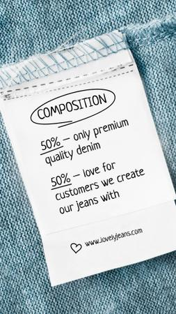 Discount Offer on Denim Clothes Instagram Story Design Template
