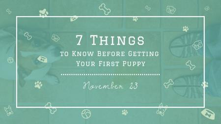 Plantilla de diseño de Tips for Dog owner with cute Puppy FB event cover