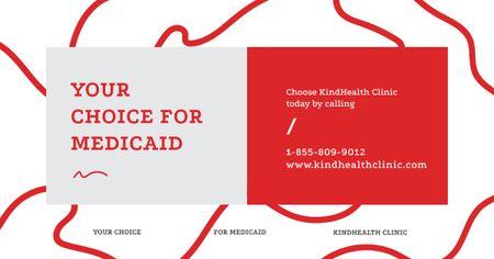Template di design Health Clinic Ad Minimalistic Geometric Pattern Facebook AD