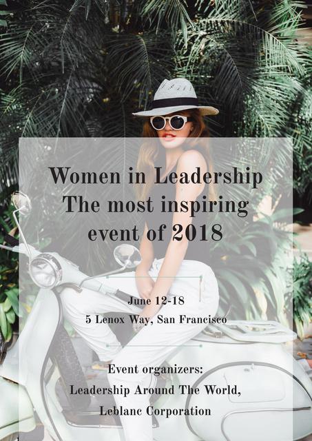Plantilla de diseño de Women in Leadership event Poster