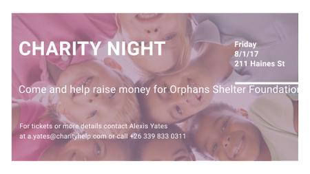 Szablon projektu Happy kids in circle on Charity Night FB event cover