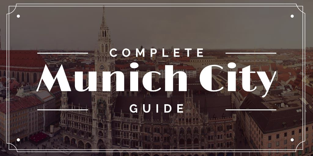 Munich City Guide with Old Buildings View —デザインを作成する