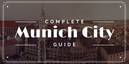 Munich City Guide with Old Buildings View Twitter Modelo de Design