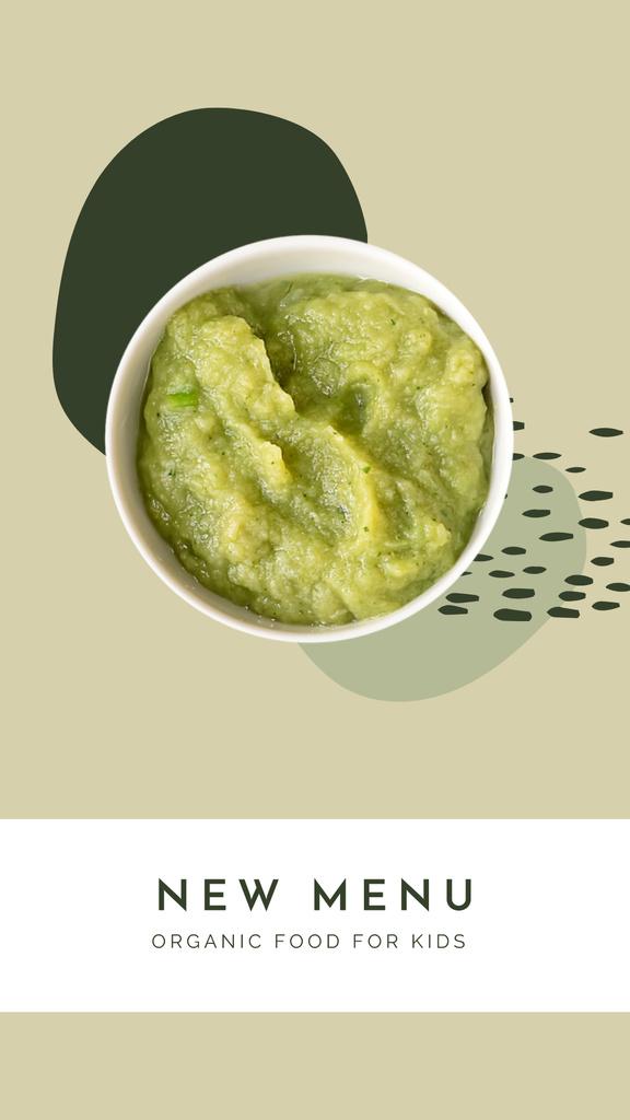 New Menu of Organic Food for Kids Ad Instagram Story tervezősablon