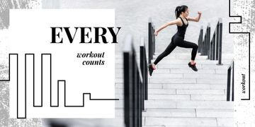 Girl running in city