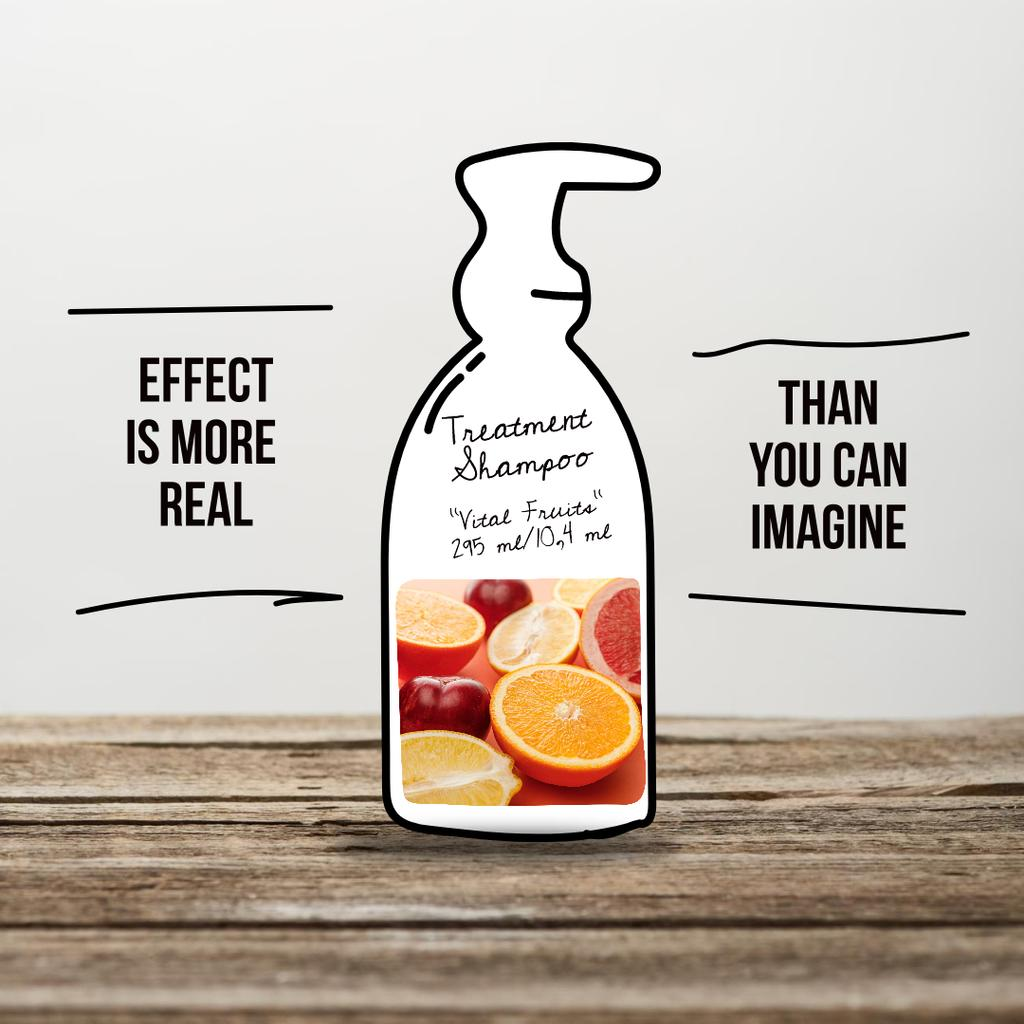 Treatment Shampoo Offer with Citruses Instagramデザインテンプレート
