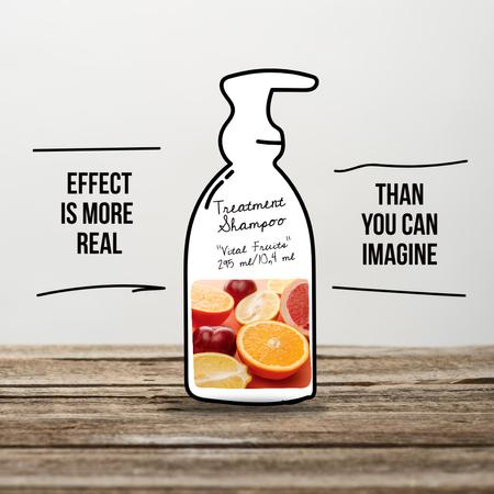 Treatment Shampoo Offer with Citruses Instagram Design Template