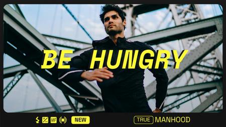Modèle de visuel Manhood Inspiration with Confident Man - Youtube Thumbnail