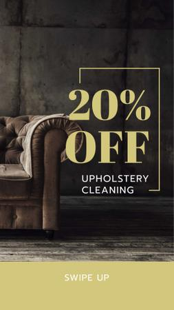 Modèle de visuel Upholstery Cleaning Discount Offer - Instagram Story