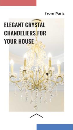 Elegant Crystal Chandeliers Offer Instagram Storyデザインテンプレート