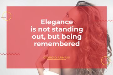 Citation about Elegance with Beautiful Woman
