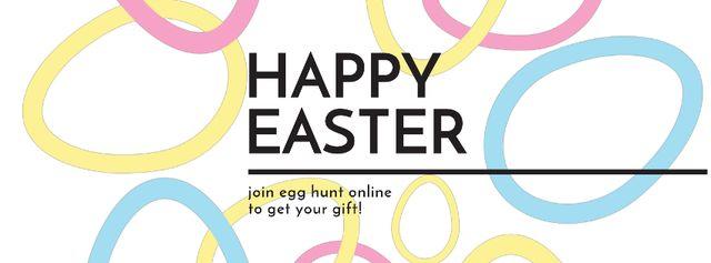 Egg Hunt Offer with rotating Easter Eggs Facebook Video cover – шаблон для дизайну