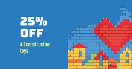 Construction Toys Store Offer Facebook AD Modelo de Design
