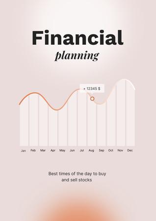 Ontwerpsjabloon van Poster van Diagram for Financial planning