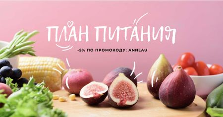Nutri Plans offer with fresh groceries Facebook AD – шаблон для дизайна