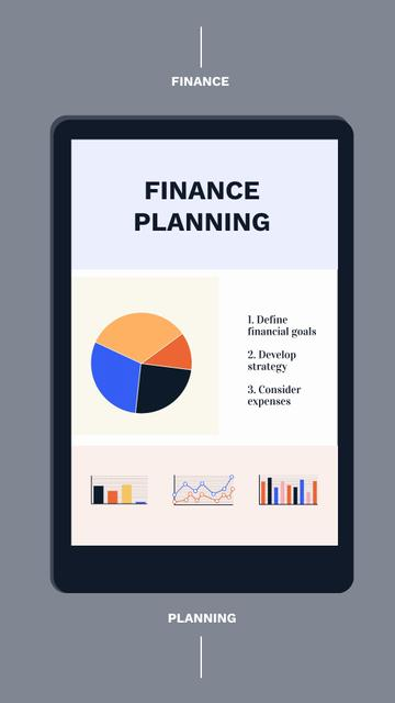 Financial Planning with Diagram on Tablet Screen Instagram Video Story Design Template