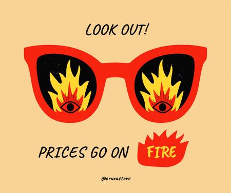 Modèle de visuel Sale Announcement with Funny Sunglasses - Facebook
