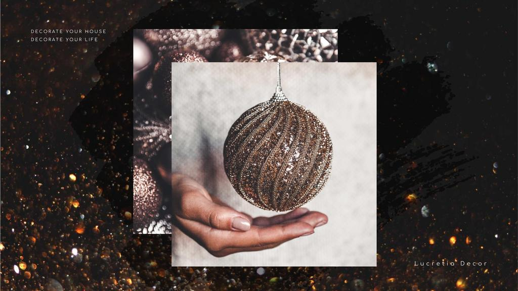 Decor Studio Ad Hands with Bauble — Create a Design