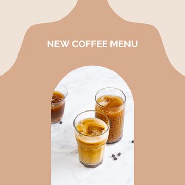 Iced Latte for Cafe menu