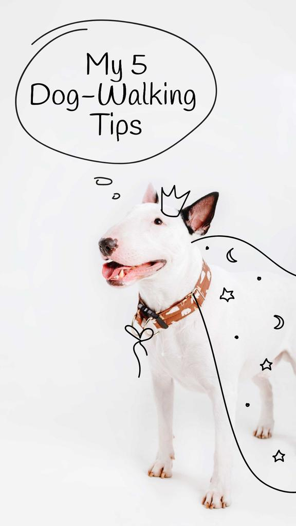 Bull Terrier for Dog Walking tips —デザインを作成する