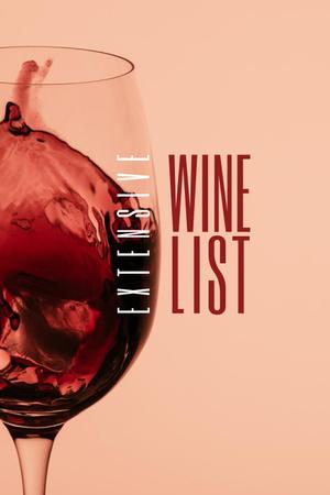 Ontwerpsjabloon van Pinterest van Splash of Wine in Glass