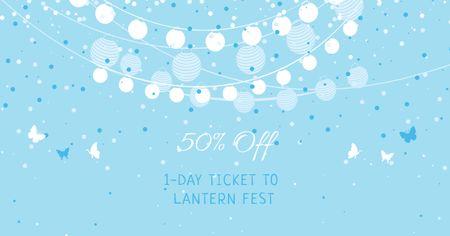 Modèle de visuel Lanterns Festival Tickets Offer - Facebook AD